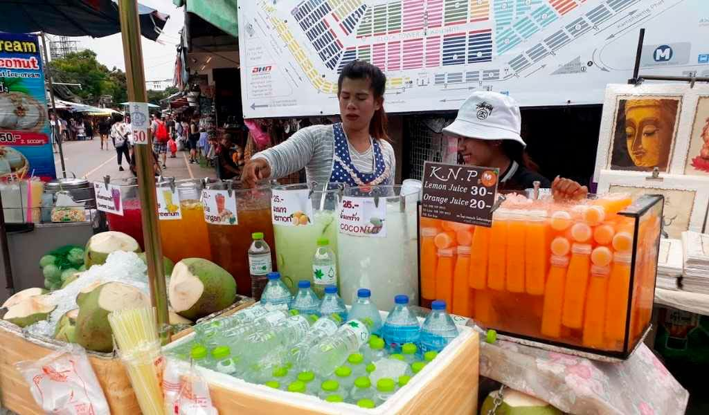food stall in Chatuchak Market