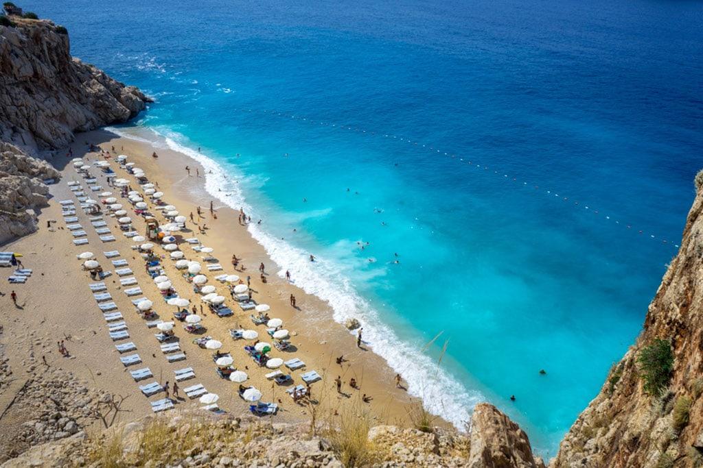 Kaputas beach from above - Turkey natural landmarks