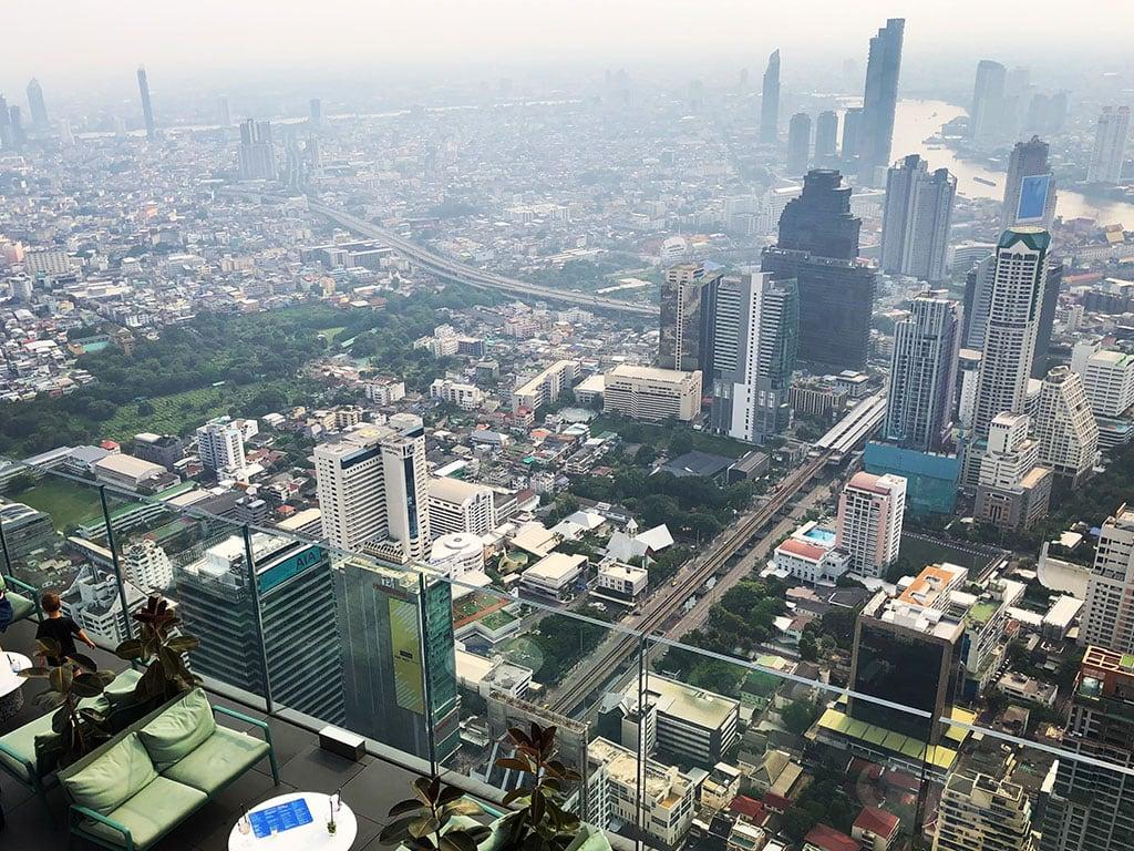 Bangkok seen from the top of King Power MahaNakhon