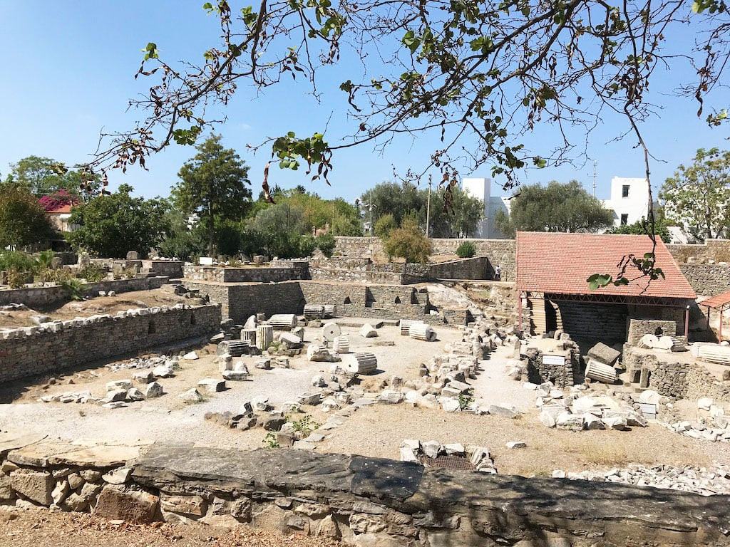 Ruins of the Mausoleum of Halicarnassus, one of the seven wonders of the ancient world