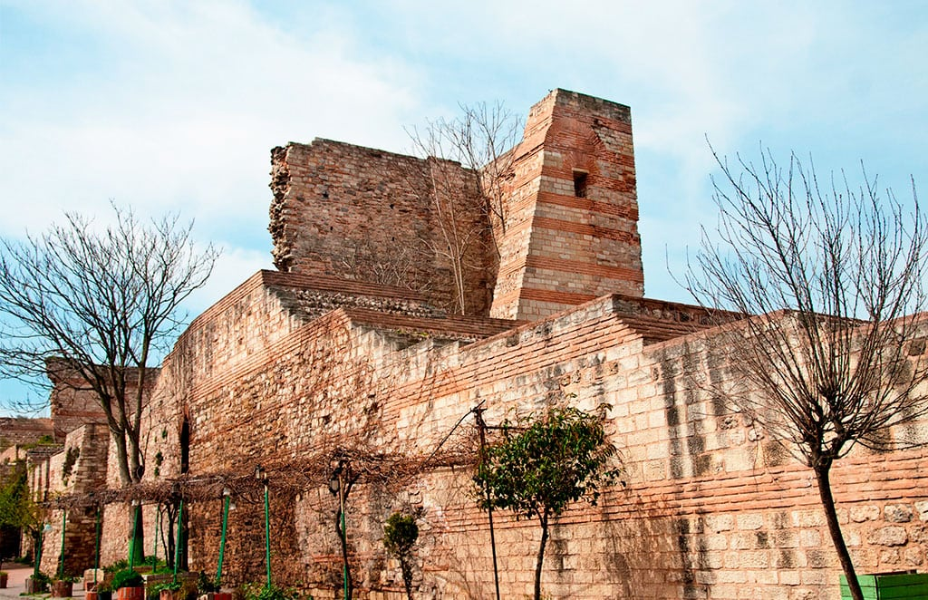 The legendary land walls of Constantinople