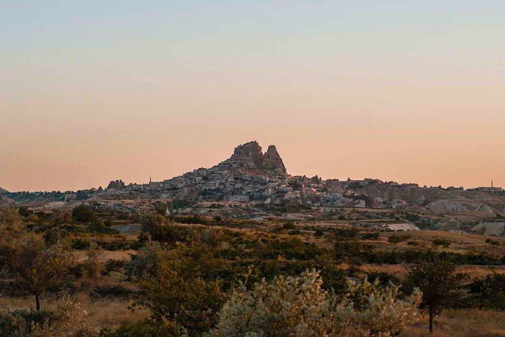 Uchisar Castle on the horizon